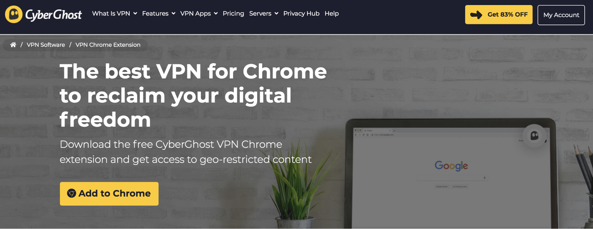 CyberGhost VPN for Chrome