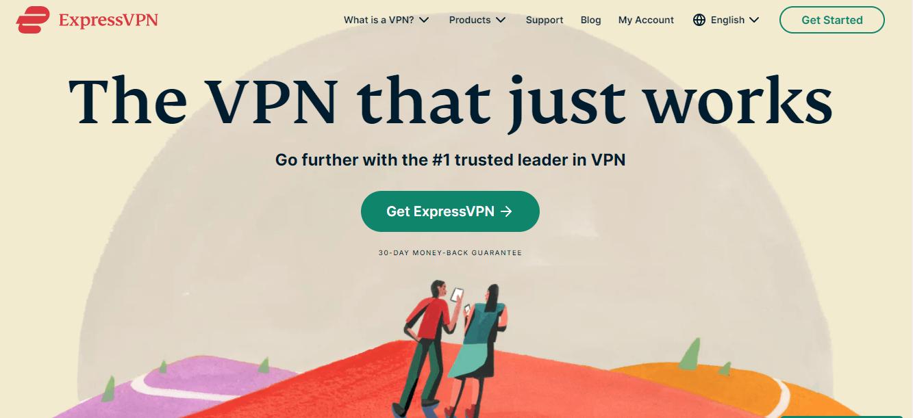 ExpressVPN's homepage screenshot